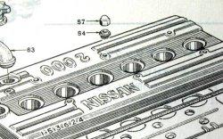 画像2: ハコスカ&ケンメリ GT-R用 S20タペットカバー プレーンナット.ワッシャー セット